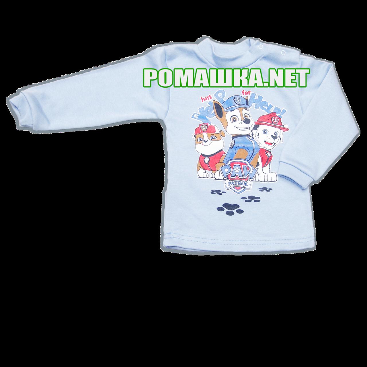 Дитяча водолазка р. 110 для хлопчика тканина ІНТЕРЛОК 100% бавовна, ТМ Мамин Світ 3285 Блакитний