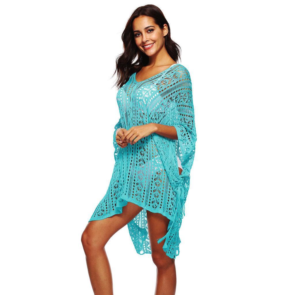 Пляжная туника, платье голубое 2271