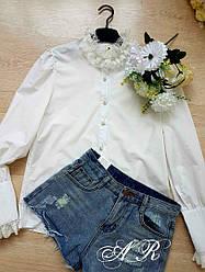 Женская белая рубашка Люкс качество(Фабричный Китай )  Код В606-1507