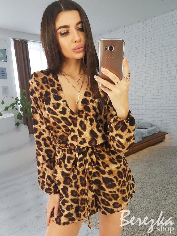 d9a9fed9f13 Стильный леопардовый комбинезон АМН-0219.020  продажа