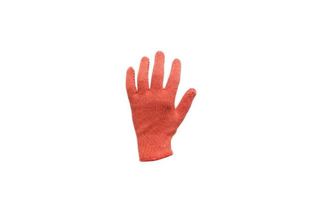 """Перчатки Сила - х/б с точкой 70 г оранжевые 10"""", фото 2"""