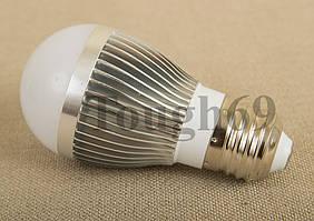 Светодиодная лампа 3Вт Е27 300-350Лм 220Вт