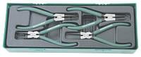 """Комплект щипцов для стопорных колец 7"""", 4 предмета AG010002SP (Jonnesway, Тайвань)"""