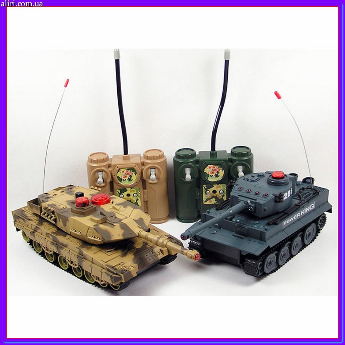 Танковый бой на радиоуправлении 1:24 Huan Qi 558 2 танка