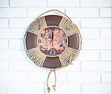 """Часы деревянные """"Спасательный круг """", фото 2"""