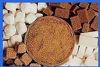 Цветной сахар для декора и сладкой ваты коричневый 100г