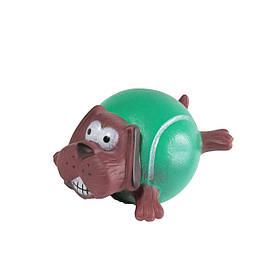 Игрушка для собак FOX виниловая Собака с телом-мячом, 9 см