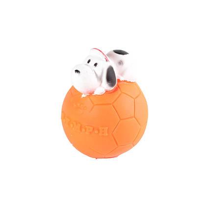 Игрушка для собак Мяч футбольный с собакой, 5,5 см, фото 2