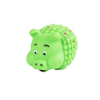 Игрушка для собак FOX виниловая свинка мяч, 6х8 см