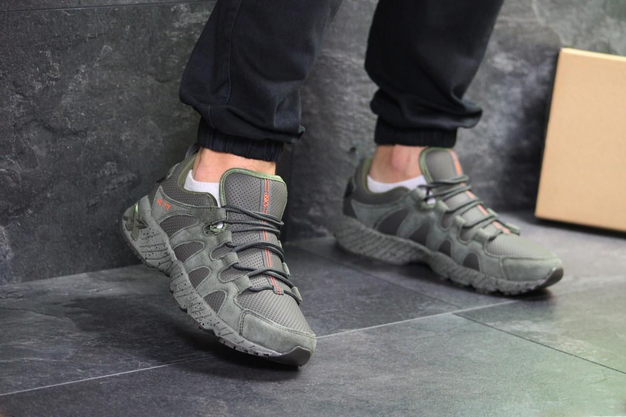 Мужские кроссовки Asics (Темно-зеленые)