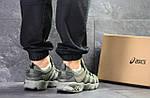 Мужские кроссовки Asics (Темно-зеленые) , фото 2