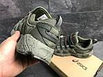 Мужские кроссовки Asics (Темно-зеленые) , фото 4