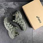 Мужские кроссовки Asics (Темно-зеленые) , фото 6