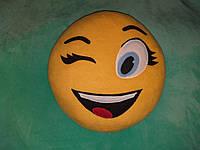 "Подушка смайл Emoji 35 см ""Флирт"""