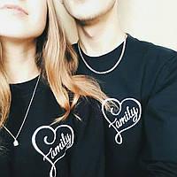 Свитшот черный family logo | парные | Кофта для влюбленных