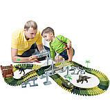 Автотрек с Динозаврами 2 метра и металлической машинкой. Диноленд Автомобильный трек, фото 5