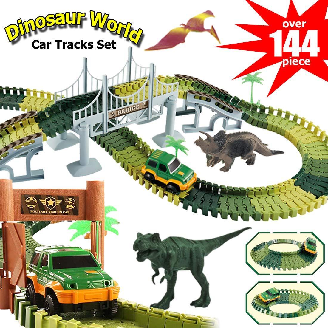 Автотрек з Динозаврами 2 метри і металевої машинкою. Диноленд Автомобільний трек