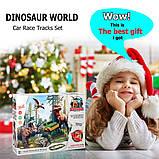 Автотрек с Динозаврами 2 метра и металлической машинкой. Диноленд Автомобильный трек, фото 6