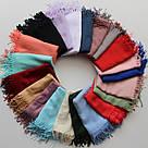 Турецкий сиреневый шарф из тонкой пашмины 116-5, фото 4