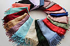 Турецкий сиреневый шарф из тонкой пашмины 116-5, фото 5