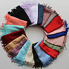 Турецкий шарф из тонкой пашмины 116-14, фото 3