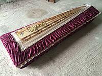 Гроб - драпировка атлас (бордовый)