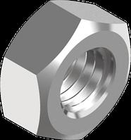 Гайка из нержавеющей стали А2 шестигранная, с мелким шагом резьбы кл. пр. 70 DIN 934
