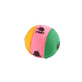 Мяч зефирный лапки трехцв, 4 см 25 шт в упаковке