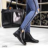 Женские демисезонные ботинки с натуральной кожи черные, фото 4