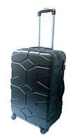 """Дорожный чемодан пластиковый 24"""" R17729 Черный"""
