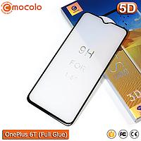Защитное Full Glue стекло Mocolo OnePlus 6T (Black) - 5D Полная поклейка