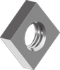 Гайка из нержавеющей стали А2 квадратная, низкая DIN 562