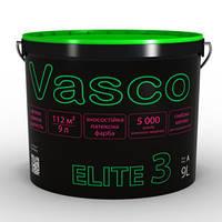 Краска латексная износостойкая для стен и потолка в сухих помещениях Vasco Elit 3 (Васко Элит 3), 0,9 л
