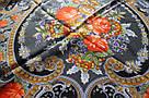 "Хустка вовняна павлопосадська ""Мигдаль"" (120х120) 629-7, фото 2"