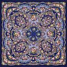 """Платок павлопосадський шерстяний """"Цветы под снегом"""" (120х120) 614-5, фото 3"""
