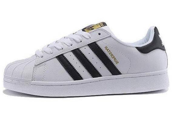Женские кроссовки Adidas Superstar white classic, фото 2