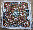 """Платок павлопосадський шерстяний """"Цветы под снегом"""" (120х120) 614-6, фото 2"""