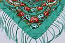 """Павлопосадский шерстяной платок """"Цветы под снегом"""" 120х120, фото 3"""