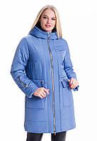 Куртка демисезонная 10-05 - голубой: 44,46,48,50,52,54,56,58,60, фото 1