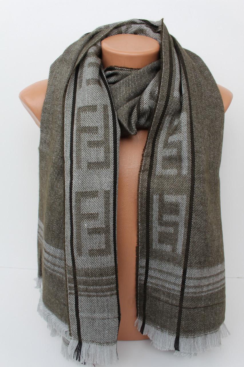 """Теплий великий шарф-плєд """"Аліса"""" 156-17"""