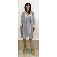 Комплект для кормящих и беременных женщин халат и сорочка с кружевом 44-52 р