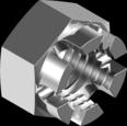 Гайка из нержавеющей стали А2 шестигранная, корончатая кл. пр. 70 DIN 935