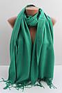 """Турецкий шарф палантин из пашмины """"Адель"""" (зеленый), фото 3"""