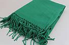 """Турецкий шарф палантин из пашмины """"Адель"""" (зеленый), фото 4"""