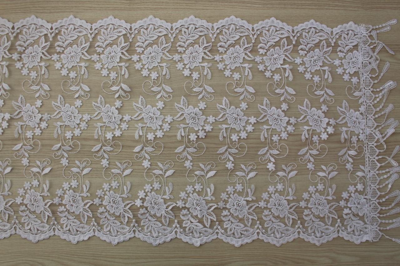 Свадебный церковный ажурный шарф (белый)