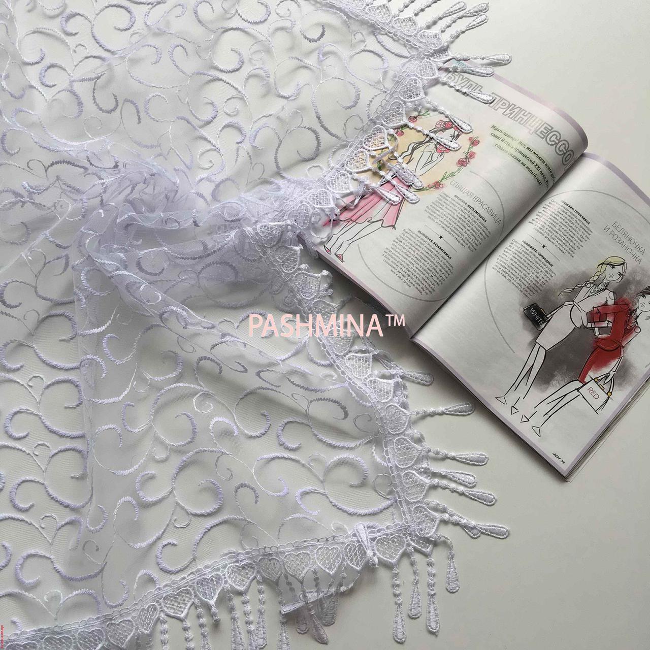 Свадебный церковный ажурный платок