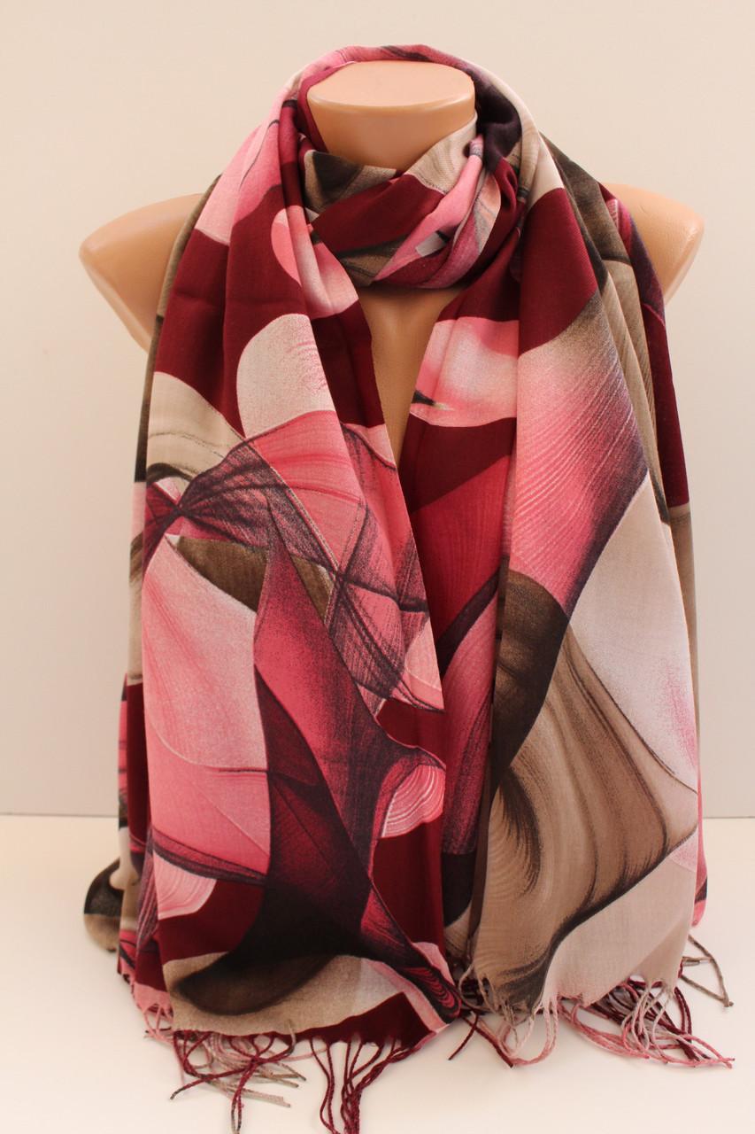 """Палантин шарф з абстракцією """"Раміна"""" (Туреччина) 115-2"""