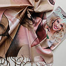 "Палантин шарф з абстракцією ""Раміна"" (Туреччина) 115-5, фото 2"