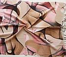 "Палантин шарф з абстракцією ""Раміна"" (Туреччина) 115-5, фото 3"
