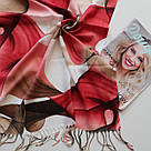 "Палантин шарф з абстракцією ""Раміна"" (Туреччина) 115-6, фото 2"